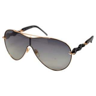 Gucci Women Black Rose Gold Aviator Sunglasses