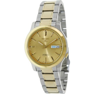 Seiko Men's 5 Automatic SNK792K Two-Tone Stainless-Steel Quartz Watch with Gold Dial