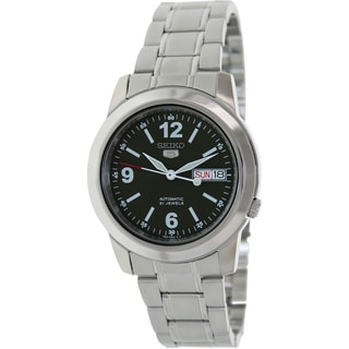 Seiko Men's 5 Automatic SNKE59K Silver Stainless-Steel Automatic Watch with Green Dial