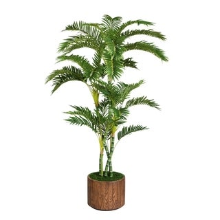 Laura Ashley 77-inch Tall Palm Tree in 16-inch Fiberstone Planter