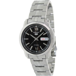 Seiko Men's 5 Automatic SNKK79K Silver Stainless-Steel Quartz Watch with Black Dial