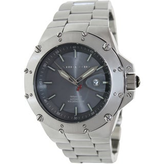 Android Men's Enforcer AD535BK Silver Stainless-Steel Quartz Watch with Grey Dial