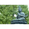 'Praying Buddha Statue' Photography Canvas Print Wall Art
