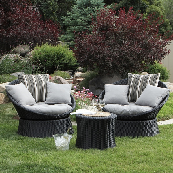 Mercer 2-piece Swivel Chair Patio Set