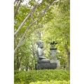 'Japanese Garden Buddha Statue' Photography Wall Art Canvas Print