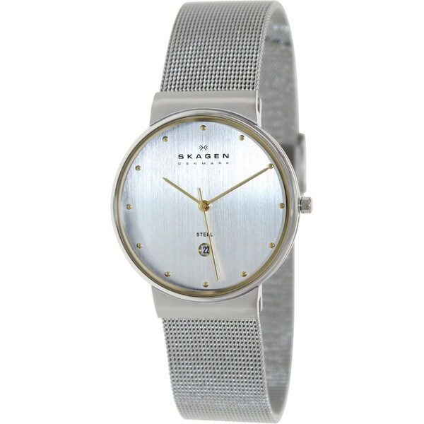 Skagen Men's 355LGSC Silver Stainless-Steel Quartz Watch with Silver Dial