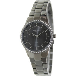Skagen Women's Classic 347SMXM Grey Titanium Plated Stainless-Steel Automatic Watch with Grey Dial