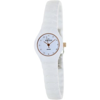Skagen Women's 816XSWXRC1 White Ceramic Quartz Watch with White Dial