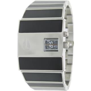 Nixon Men's ROTOLOG A028000-00 Black Ceramic Analog Quartz Watch with Black Dial