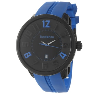 Tendence Men's 'Gulliver Round Funky' Water-resistant Polycarbonate-and-Steel Watch