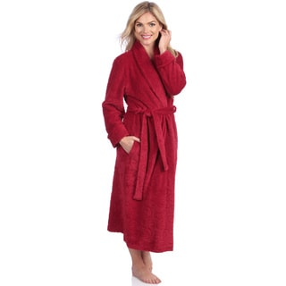 Jasmine Rose Women's Red  Swirl Detail Plush Robe