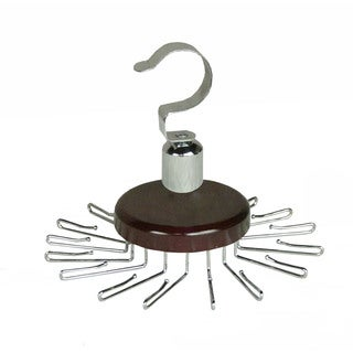 Richards Homewares Satin Nickel Revolving Tie Hanger