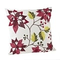 Down Filled Embroidered Poinsettia Throw Pillow