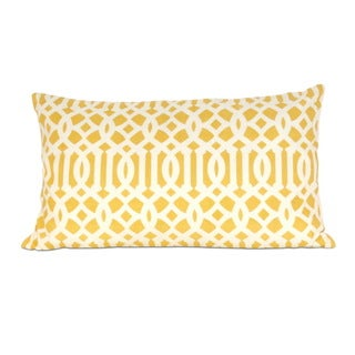 Arabesque Cotton 20-inch Down Filled Throw Pillow