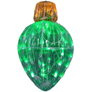 13-inch Diameter Starry Night Crystal Green Splendor Bulb Shape