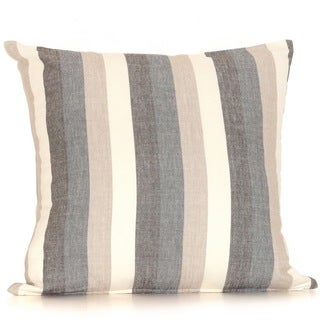 Stripes Cotton 20-inch Down Filled Throw Pillow