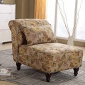 Classic Floral Slipper Chair