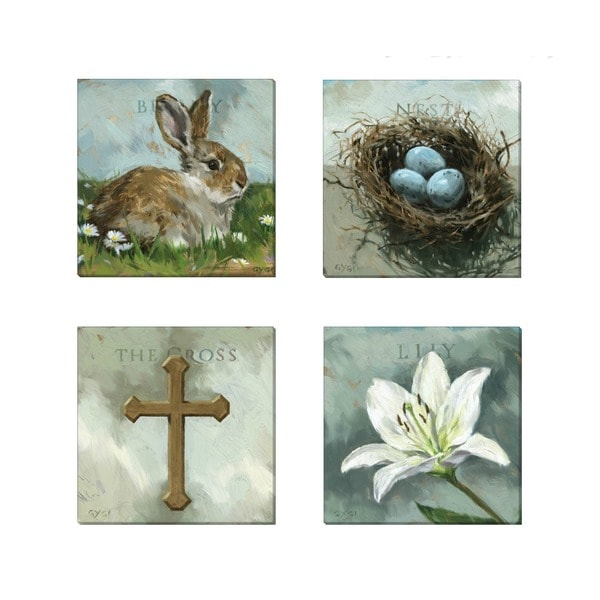 'Amberton Publishing New Beginnings' Canvas Art (Set of 4)