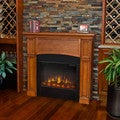 Real Flame Pecan Bradford Electric Fireplace