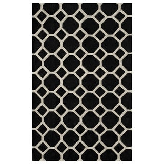 Honeycomb Black Hand-Tufted Rug (8' x 10')