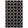 Hand-tufted Black Honeycomb Area Rug (8' x 10')