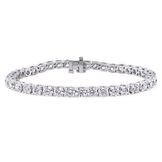 Miadora 14k White Gold 12 1/3ct TDW Diamond Tennis Bracelet (G-H, I1-I2)