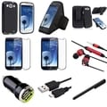 BasAcc 9-in-1 Accessory Set for Samsung Galaxy S3/ SIII