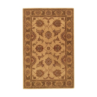 Hand-Tufted Imperial Beige/ Gold Wool Rug (5' x 8')