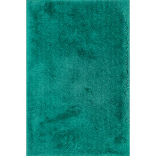 Hand-tufted Evelyn Emerald Shag Rug (5'0 x 7'6)