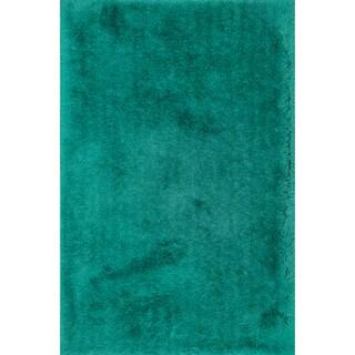 Hand-tufted Evelyn Emerald Shag Rug (7'6 x 9'6)
