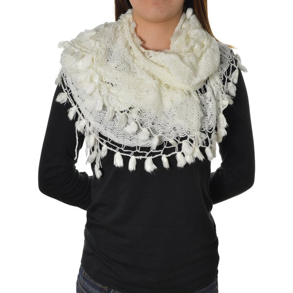 LA77 Tassel Knit Scarf