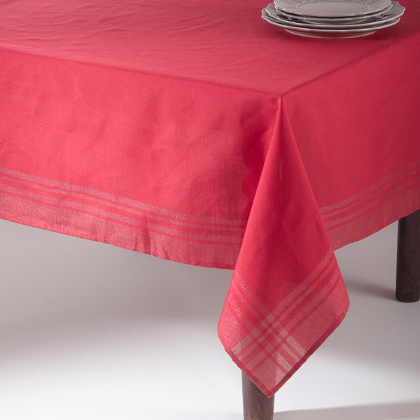 Iridescent Design Plaid Tablecloth