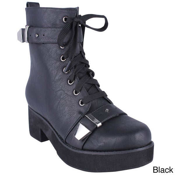 Women's 'Era-05' Thick Sole Chunky Combat Boots