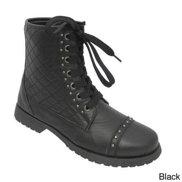 Women's 'Aurora-36' Lace-up Combat Ankle Boots