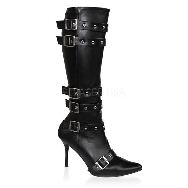 Funtasma Women's Spicy-138' Black Mid-calf Eyelet Strap Boots