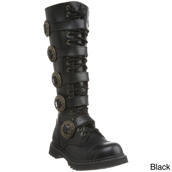 Demonia Men's 'Steam-20' Leather Steampunk Eyelet Boots