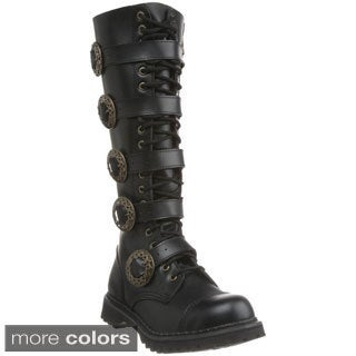 Demonia Men's 'Steam-20' Leather Steampunk Eyelet Boots