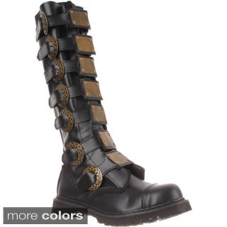 Demonia Men's 'Steam-30' Metal Plates Steampunk Boots