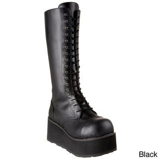 Demonia Men's 'Trashville-502' Black Lace-up Platform Boots