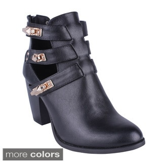 Women's 'YOKI CHURCHILL' Chunky Heel Ankle Booties