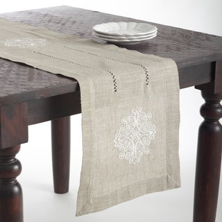Medallion Design Embroidered Table Topper or Table Runner