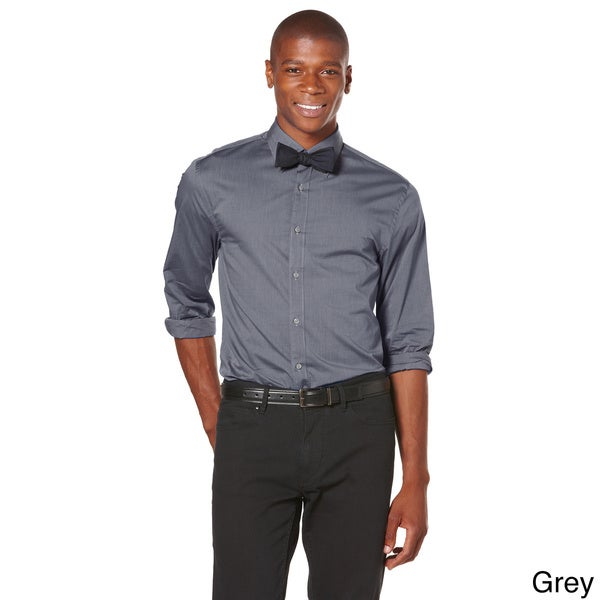 Perry Ellis Men's Slim Fit Iridescent Woven Dress Shirt