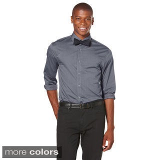 Perry Ellis Men's Slim Fit Iridescent Woven Dress Shirt