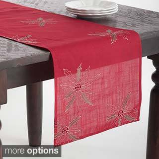 Poinsettia Design Table Topper or Table Runner