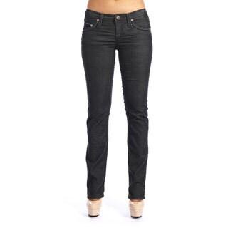 Stitch's Women's Slim Fit Black Denim Jeans
