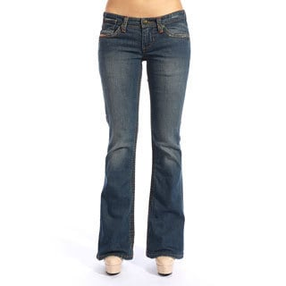 Stitch's Women's Vintage Blue Boot Cut Jeans