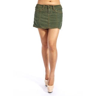 Stitch's Women's Hunter Green Denim Mini Skirt