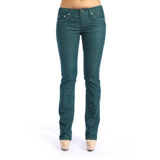 Stitch's Women's Hunter Green Boot Cut Jeans