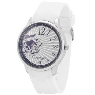 Ed Hardy Men's Omen White Watch