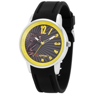 Ed Hardy Men's Omen Yellow Watch
